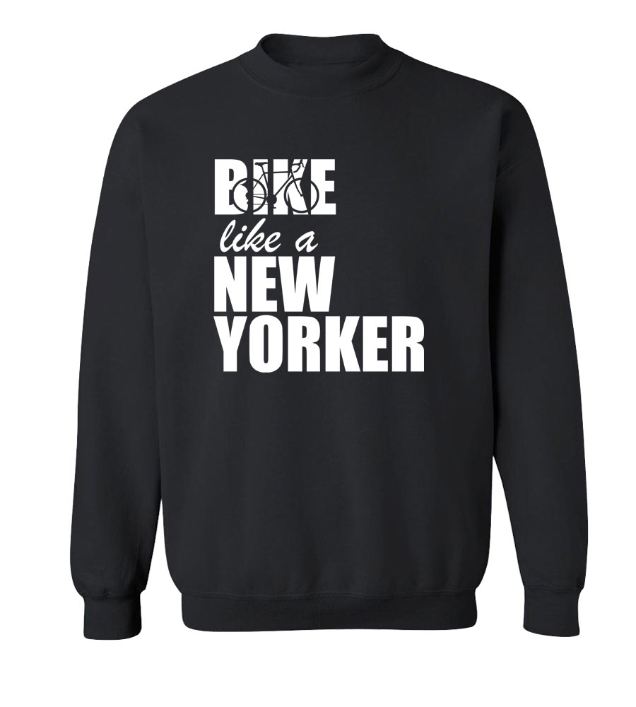 Bike Like A New Yorker  Crew Neck Sweatshirt