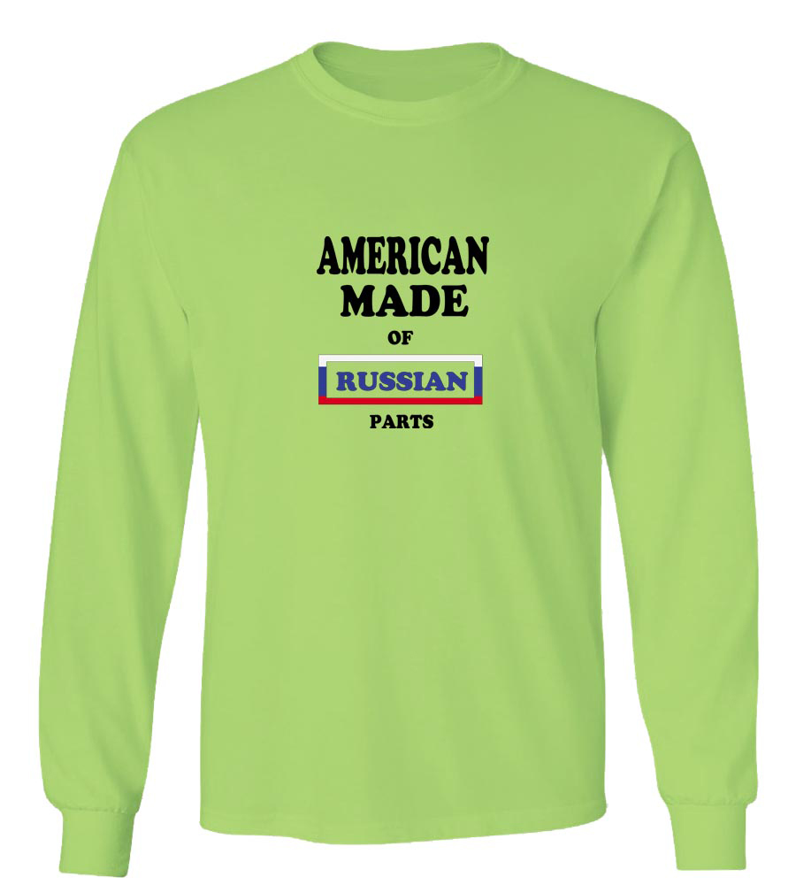 American Made of Russia Parts Long Sleeve T-Shirt