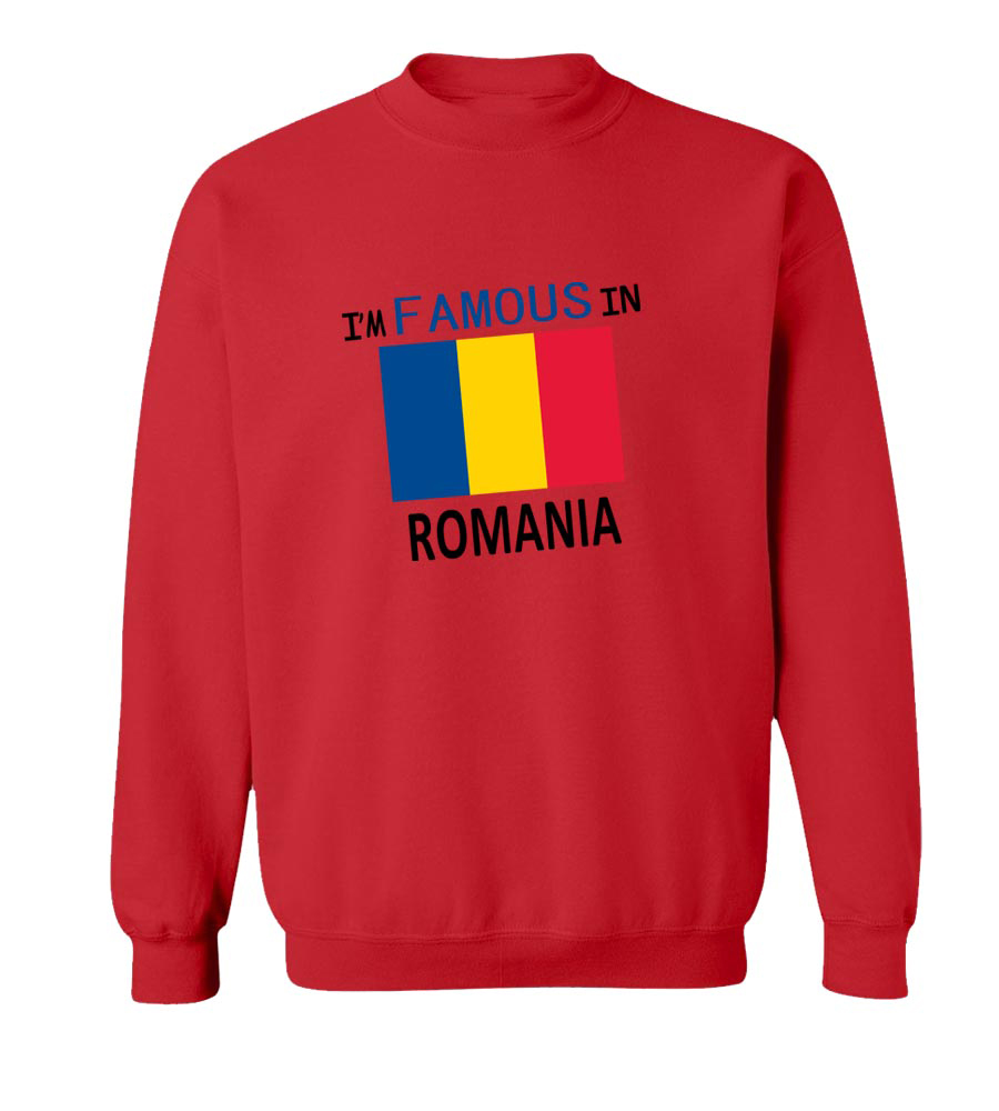IM Famous in Romania crew neck Sweatshirt
