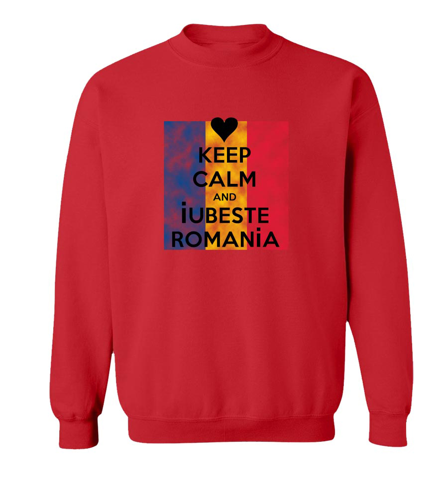 Keep Calm And Iubeste Romania crew neck Sweatshirt