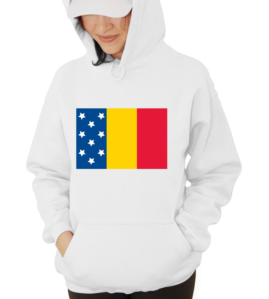 Romania Star Hooded Sweatshirt