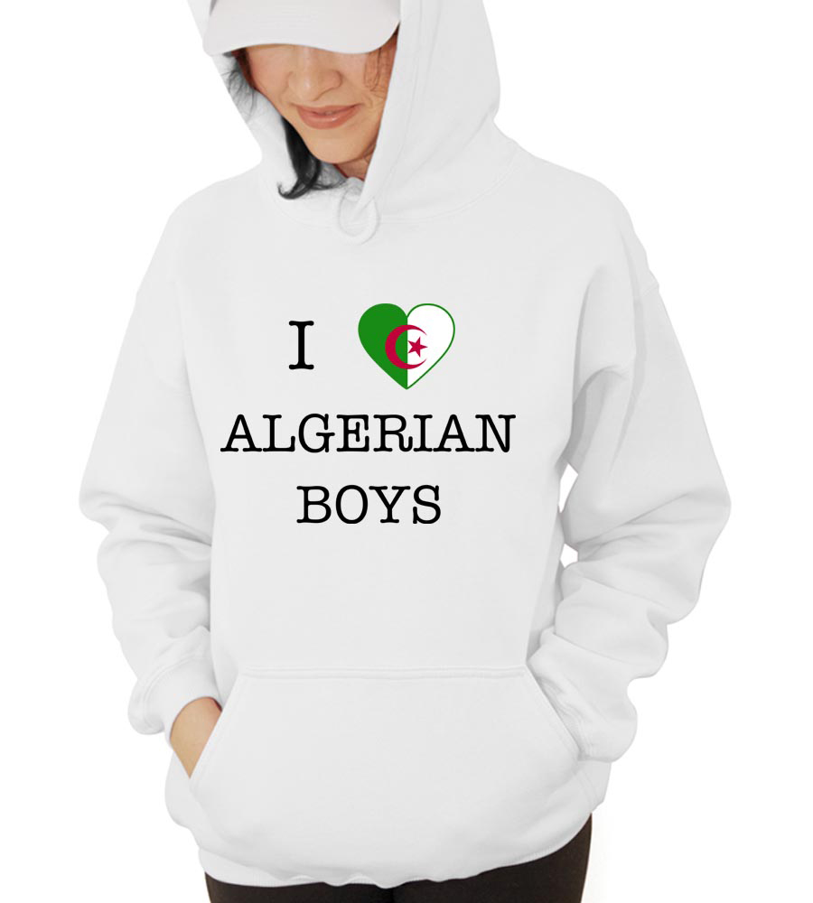 I Love Algeria Boys Hooded Sweatshirt