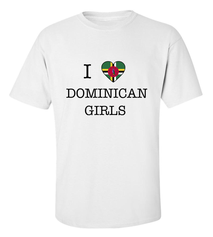 I Love Dominica Girls T-shirt