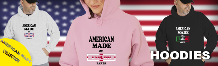 American made of ... Parts Hoodies