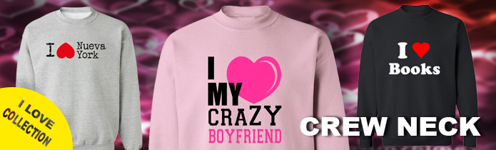 I Love Boys-Girls Crew Neck Sweatshirts