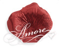 Crimson Red Metallic Red Silk Rose Petals Wedding 100