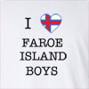 I Love Faroe Island Boys Long Sleeve T-Shirt