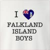 I Love Falkland Island Boys Crew Neck Sweatshirt