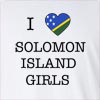 I love Solomon Island Girls Long Sleeve T-Shirt