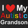 I Love My Autistic Grandson Crew Neck Sweatshirt