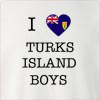 I Love Turks Island Boys Crew Neck Sweatshirt