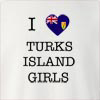 I Love Turks Island Girls Crew Neck Sweatshirt