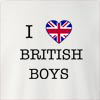I Love United Kingdom British Boys Crew Neck Sweatshirt