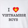 I Love Vietnamese Boys Long Sleeve T-Shirt