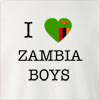 I Love Zambia Boys Crew Neck Sweatshirt