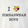 I Love Zimbabwe Boys Crew Neck Sweatshirt