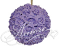 Lavender Silk Pomander Kissing Ball Wedding 12 inches