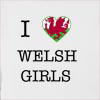 I Love Wales Girls Hooded Sweatshirt