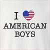 I Love United States Of America Boys Crew Neck Sweatshirt