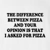 The Difference Between Pizza And Your Opinion Is That I Asked For Pizza T-Shirt