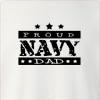 Proud Navy Dad Crew Neck Sweatshirt