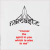 "Namaste "" I Honor The Spirit In You Which Is Also In Me"" Hooded Sweatshirt"