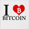 I Love Bitcoin Hooded Sweatshirt