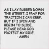 As I Lay Rubber Hooded Sweatshirt
