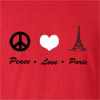 Peace Love Paris Cotton T-shirt