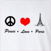 Peace Love Paris Long Sleeves T-shirt