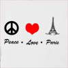 Peace Love Paris Hooded Sweatshirt