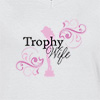 Ladies V Neck T-shirt Trophy wife-print