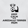 Ladies V Neck T-shirt Keep Calm I'm A Airedalle Terrier Mom