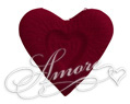 Burgundy Silk Rose Petals Wedding Heart Shaped I Love You 2000