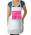 Hot Pink Bride Wedding Apron