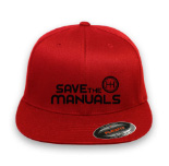 SAVE THE MANUALS Logo Flex-Fit Style Hat