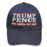 Trump Pence Embroidery Make America Safe Again 100% Cotton Adult Cap