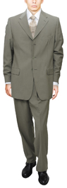 Olive Business Suit - Signature Collection 3 button