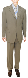 Beige Modern Business Suit - Signature Collection 3 butotn