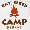 Eat Sleep Camp Repeat Outdoors Funny T-shirt