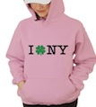 Saint Patrick's Day I Shamrock NY Hooded Sweatshirt