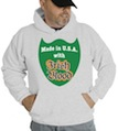 Saint Patrick's Day Made In USA With Irish Blood Hooded Sweatshirt