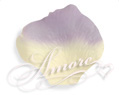 Lavender and Light Ivory Silk Rose Petals Wedding 2000