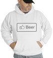 Facebook Like Beer Hooded Sweatshirt