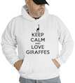 Keep Calm and Love Giraffes Hooded Sweatshirt