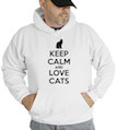 Keep Calm and Love Cats Hooded Sweatshirt