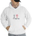 I Love Blogging Hooded Sweatshirt