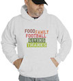 Food Family Football Giving Thanks Hooded Sweatshirt