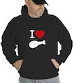 I Heart Turkey Hooded Sweatshirt