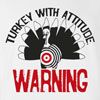 Turkey With Attitude Thanksgiving T-Shirt